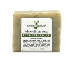 Organic Eucalyptus Mint olive oil bar soap
