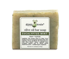 Natural Eucalyptus Mint Soap for Dry, Itchy Skin