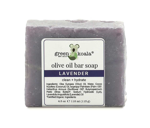 Lavender Natural Bar Soap for Dry Itchy Skin