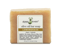 Organic lemongrass olive oil bar soap