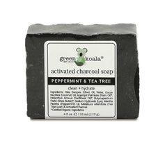 Natural Peppermint & Tea Tree Activated Charcoal Soap for Dry Itchy Skin