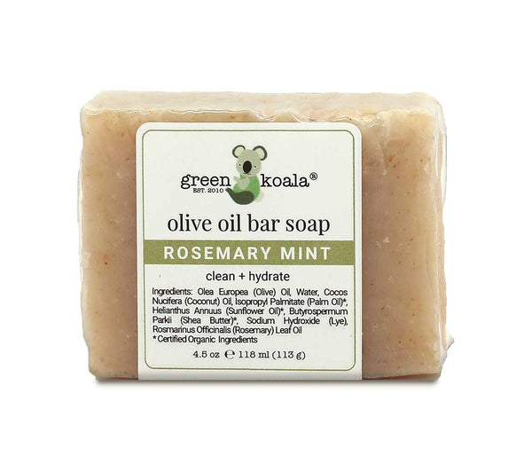 Natural Rosemary Mint Bar Soap for Oily Skin