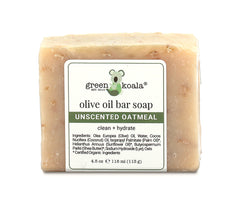 Organic unscented olive oil bar soap