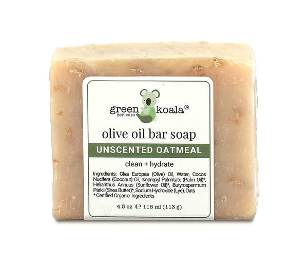 Natural Unscented Oatmeal Bar Soaps