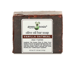 Organic vanilla oatmeal bar soap 4.5 oz