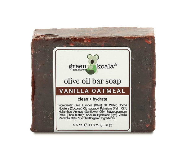 Natural Vanilla Oatmeal Bar Soap for Sensitive Skin