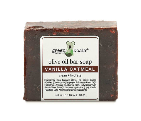 Green Koala Organic Vanilla Oatmeal Bar Soap