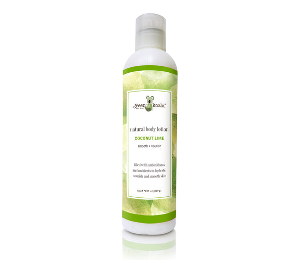 Green Koala Organic Coconut Lime Body Lotion in 8 oz bottle