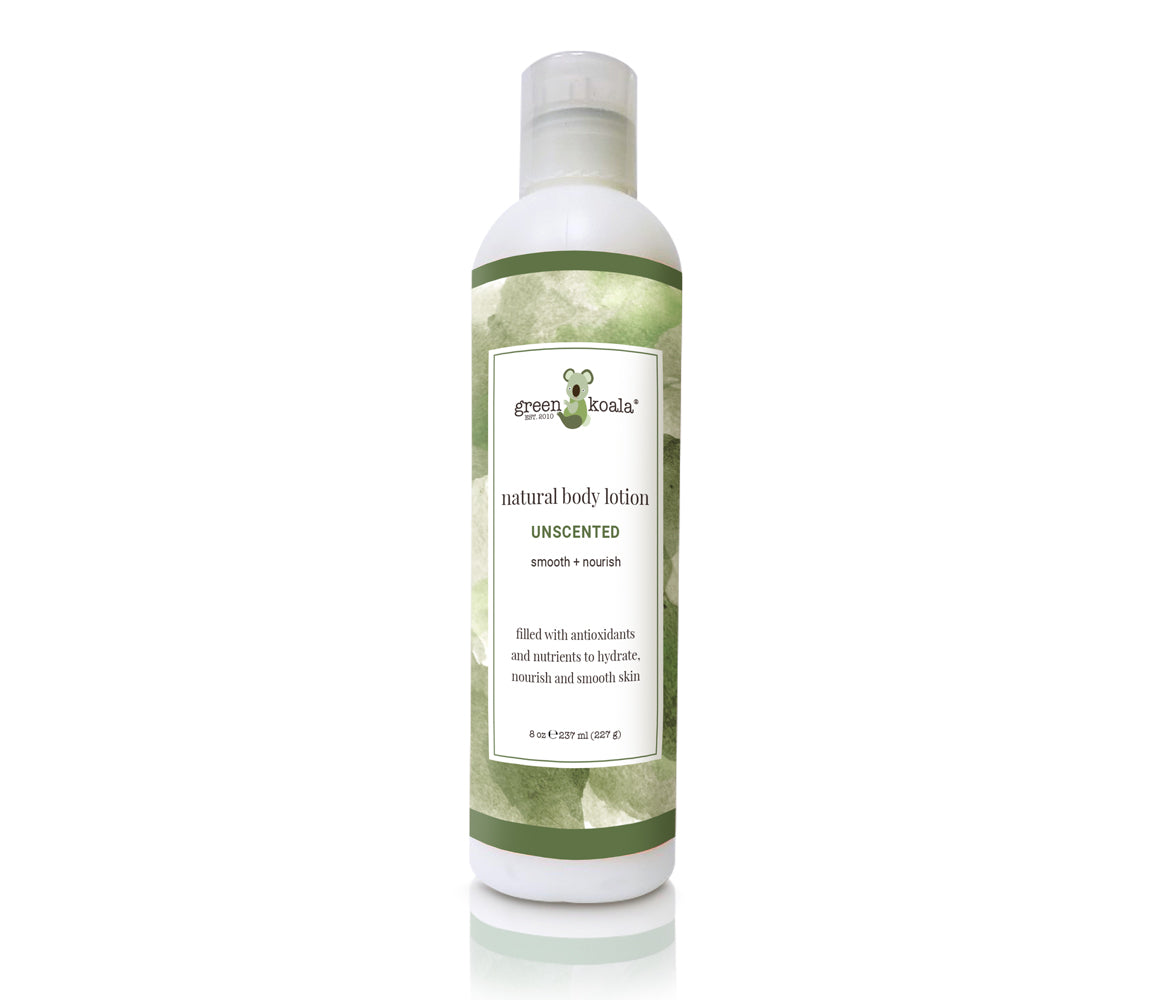 Unscented body lotion in 8 oz bottle