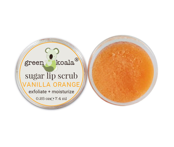 Green Koala Organic Vanilla Orange Lip Sugar Scrub