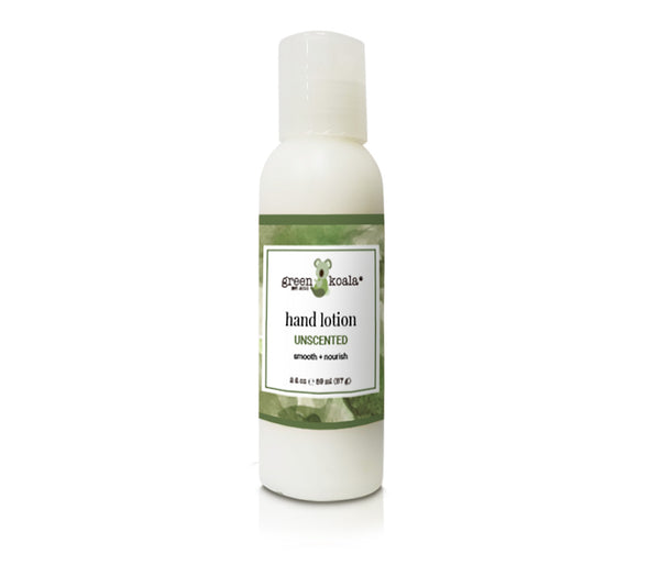 Organic unscented  2 oz hand lotion with push cap