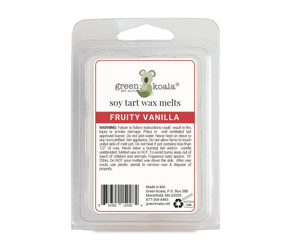 Green Koala Organic Fruity Vanilla Soy Tart Wax Melts