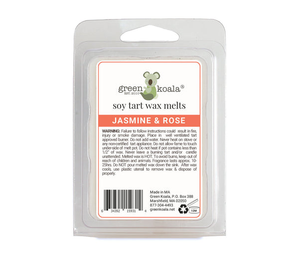 Green Koala Organic Jasmine & Rose Soy Tart Wax Melts