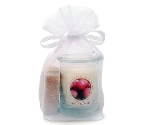 Green Koala Organic Apple Cinnamon Candle & Soap Gift Set