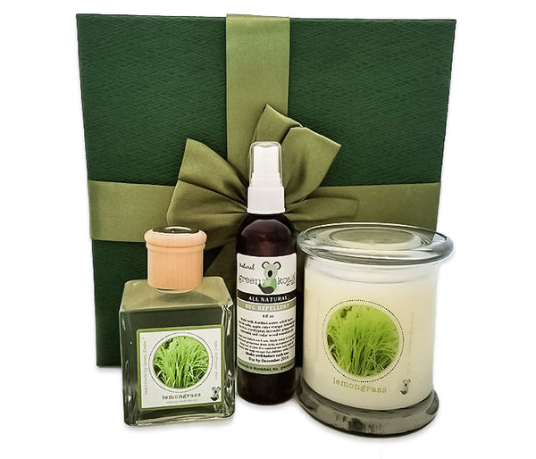 Green Koala Organic Lemongrass Home Fragrance Gift Set