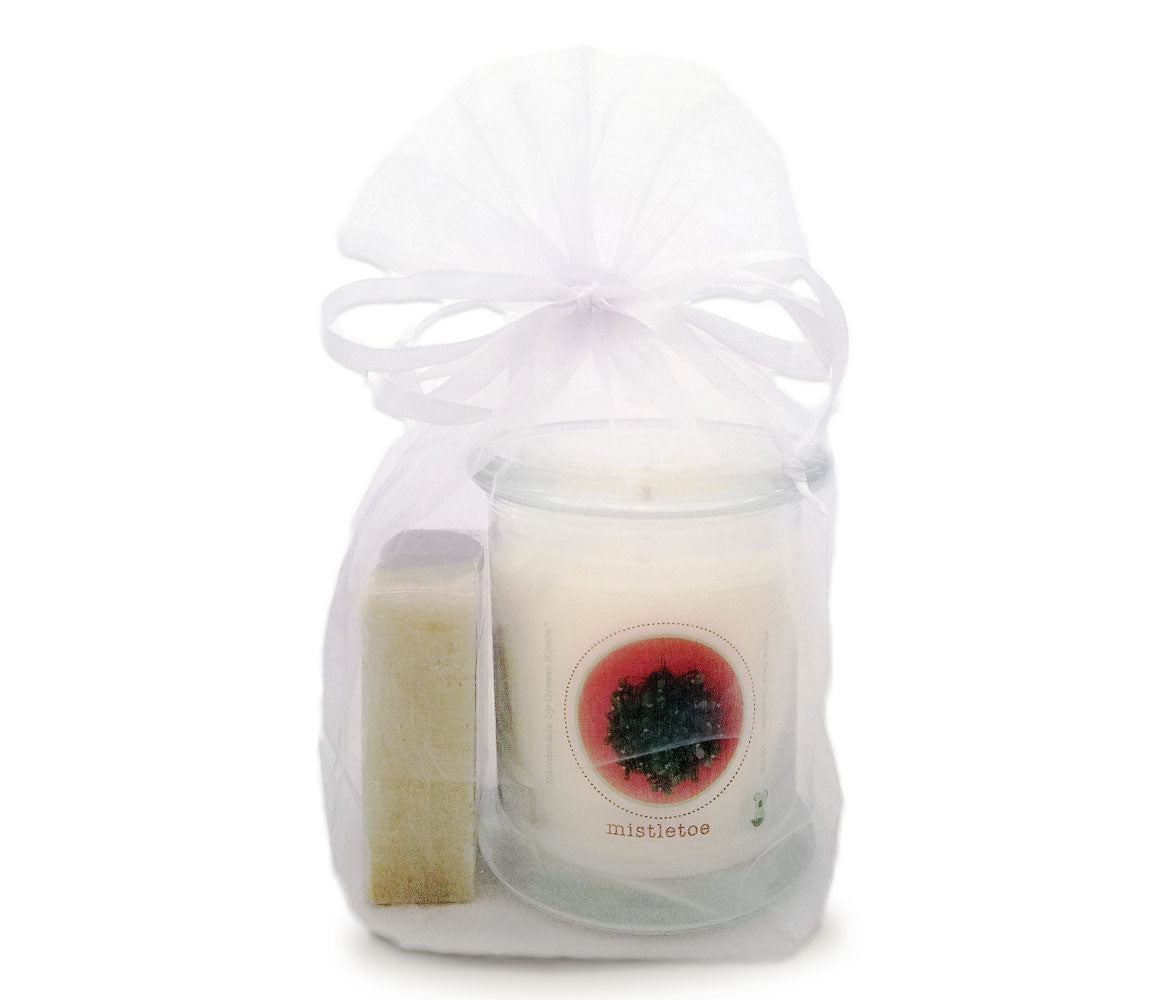 Green Koala Organic Mistletoe Candle & Soap Gift Set