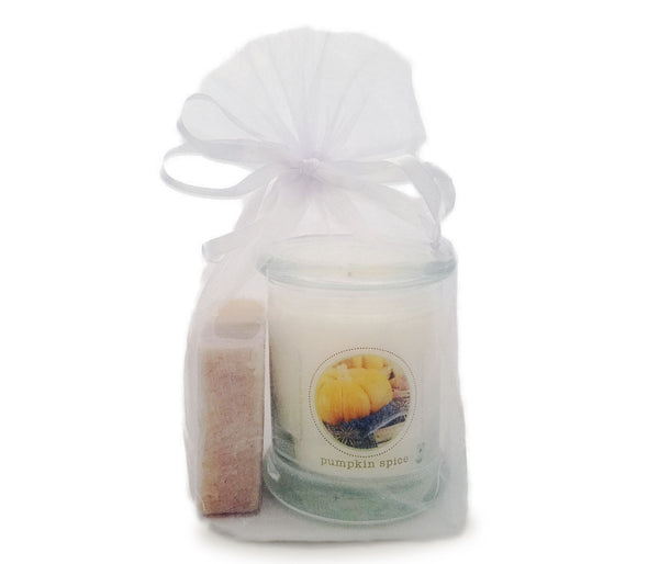 Green Koala Organic Pumpkin Spice Candle & Soap Gift Set