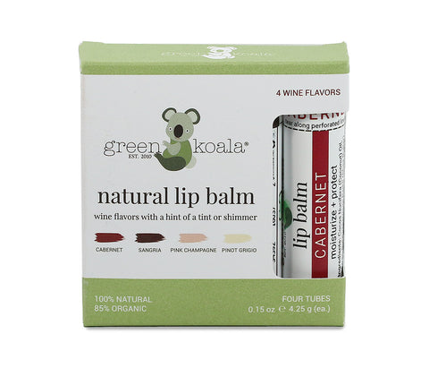 Green Koala Organic 4-Pack Tinted Wine Lip Balm