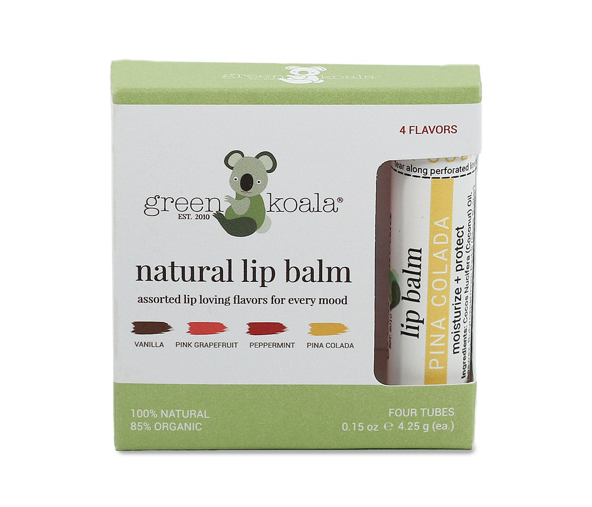 Green Koala Organic 4-Pack Assorted Organic Lip Balm