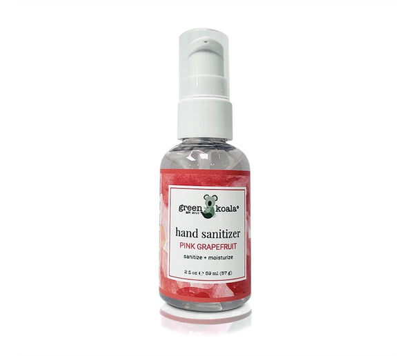 One 2 oz pump bottle of pink grapefruit hand sanitizer