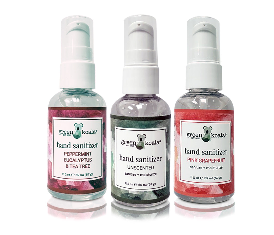 Green Koala Organic 3-Pack Assorted Hand Sanitizer