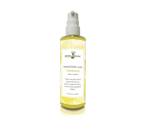 Natural Lemongrass Body Wash in 8 oz container with pump.