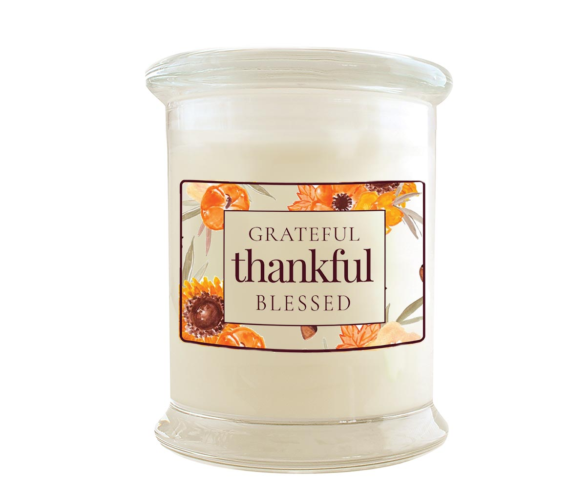 Green Koala Organic Grateful Thankful Blessed Fall Soy Candle
