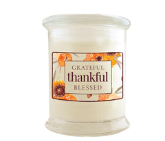 Green Koala Organic Grateful Thankful Blessed Fall Candle