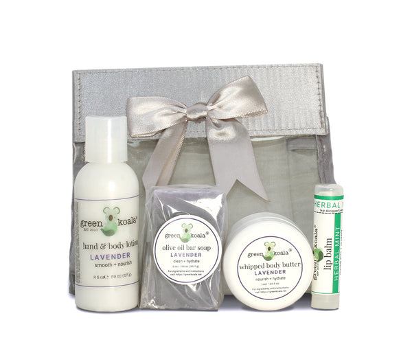 Organic Lavender Mini Travel Gift Set