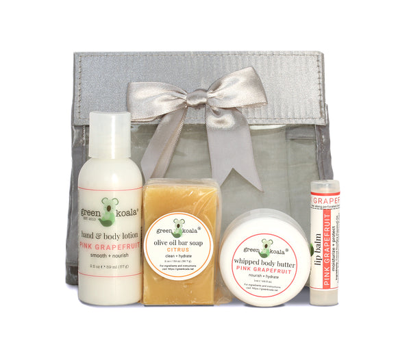 Green Koala Organic Pink Grapefruit Mini Travel Gift Set