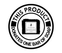 We will donate one bar of soap for every 3-pack of soap you purchase.