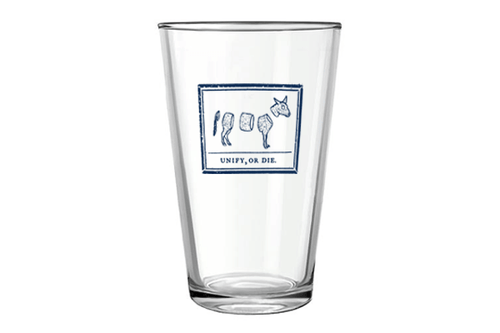 Unify or Die Pint Glass