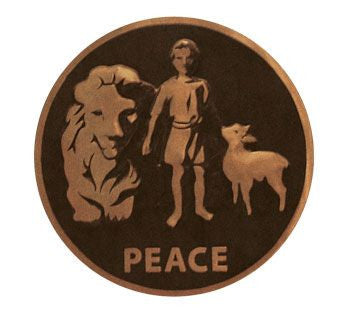 Lapel Pin - Peace Seal Gold
