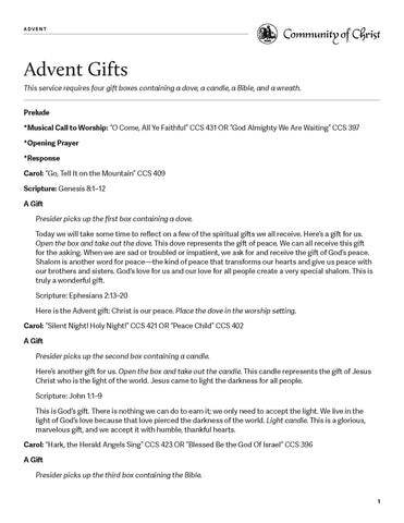 Advent Worship Outlines (PDF Download)