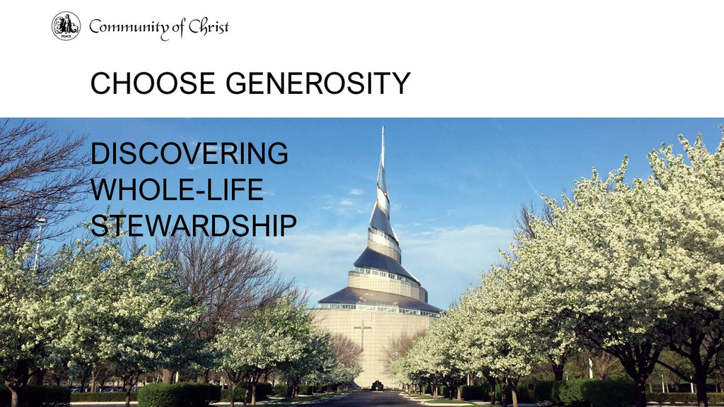 Choose Generosity Study Guide Presentation (PowerPoint)