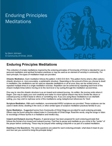 Enduring Principles Meditations (PDF Download)