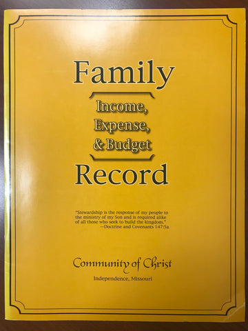 Family Income, Expense, and Budget Record