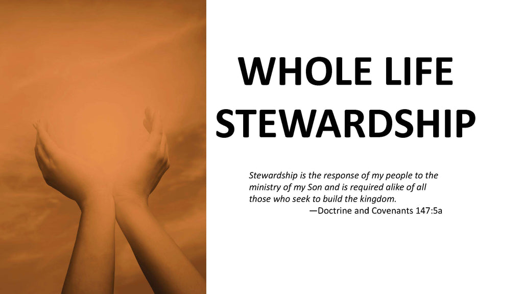 Whole Life Stewardship Brochure Presentation (Powerpoint)