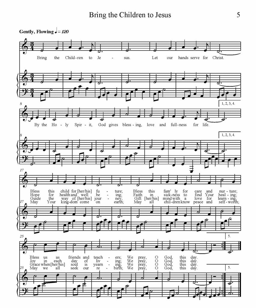 Bring the Children to Jesus Sheet Music (PDF Download)