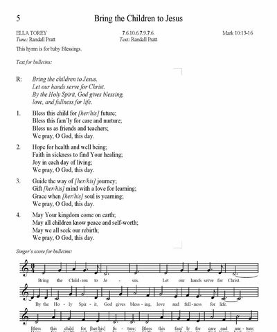Bring the Children to Jesus Song Lyrics (PDF Download)