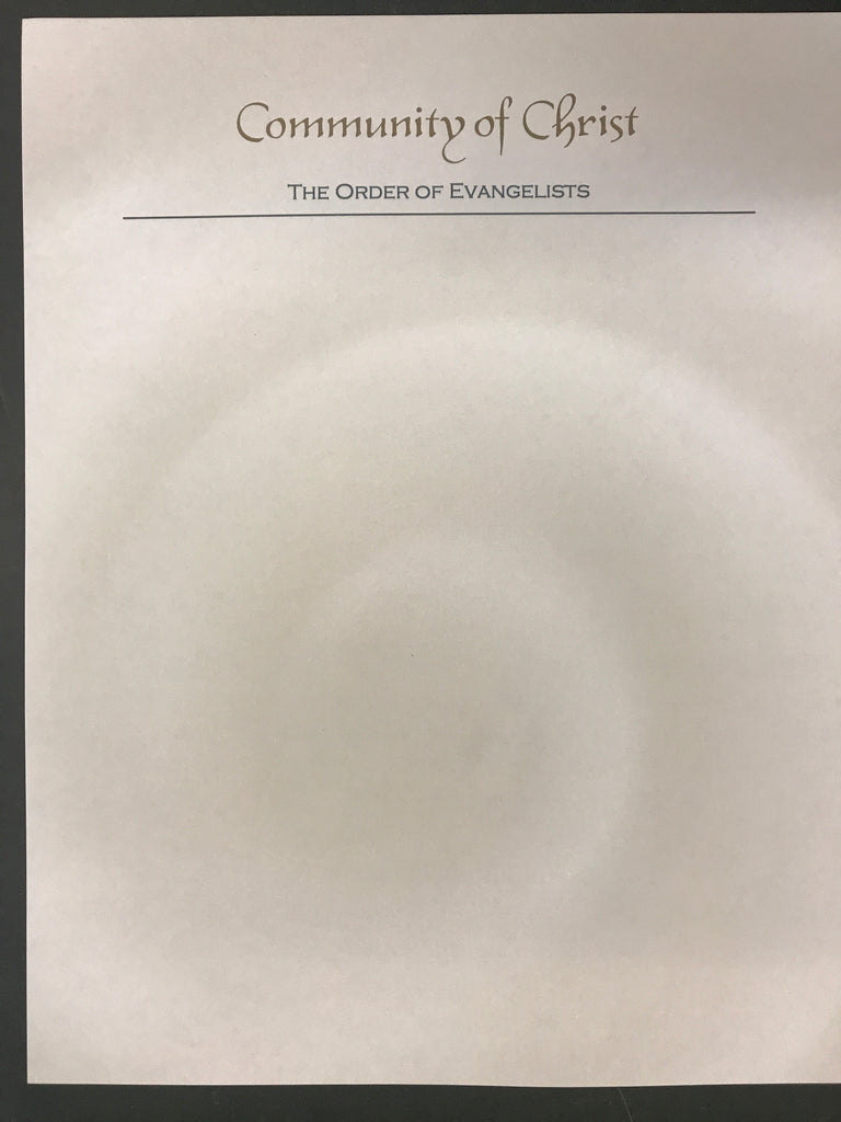 Order of Evangelists - Letterhead