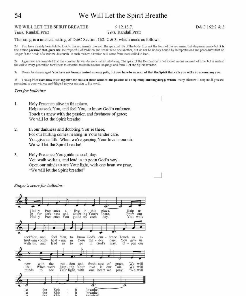 We Will Let the Spirit Breathe Song Lyrics (PDF Download