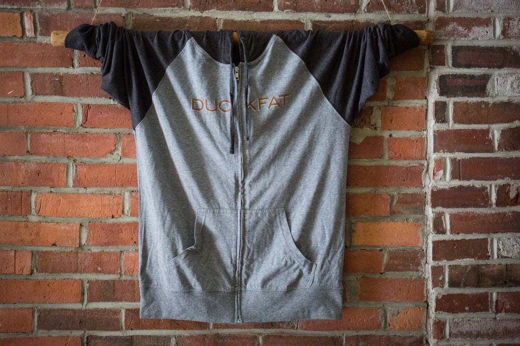 Light Weight Zip Up Hoodie Front Side