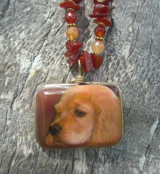 Custom - dog - Medium size with necklace