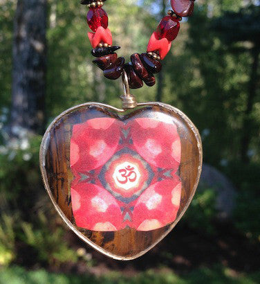 Ruby Red Om Mandala