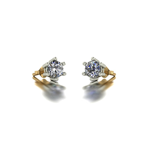 0.50ct (2x 4.0mm) Round Moissanite Set Earrings