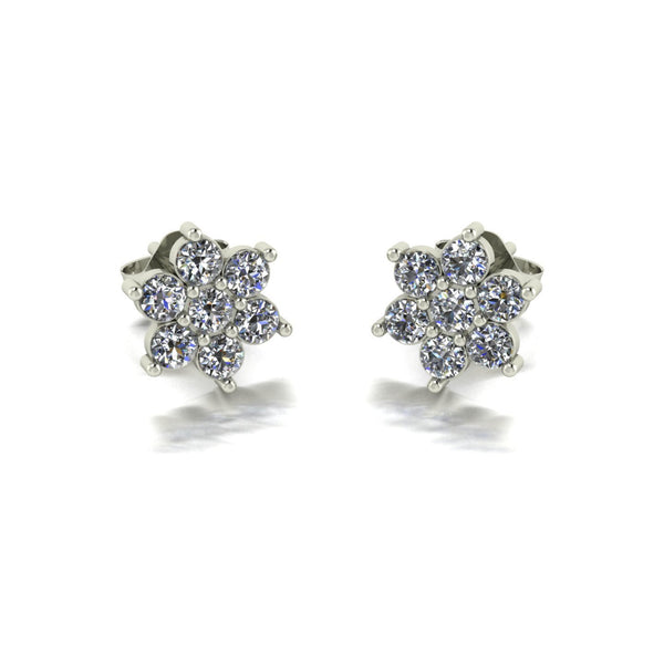 0.70ct (14x 2.3mm) Round Moissanite Set Earrings
