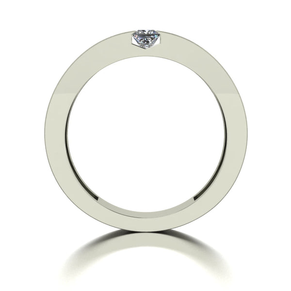 0.50ct (2x 3.5mm) Square Moissanite Set Men's Ring