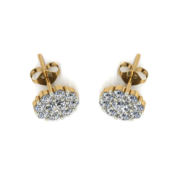1.75ct (2x 4.0mm & 18x 2.5mm) Round Moissanite Set Earrings