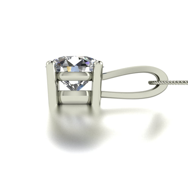 1.25ct (1x 7.0mm) Round Moissanite Set Pendant